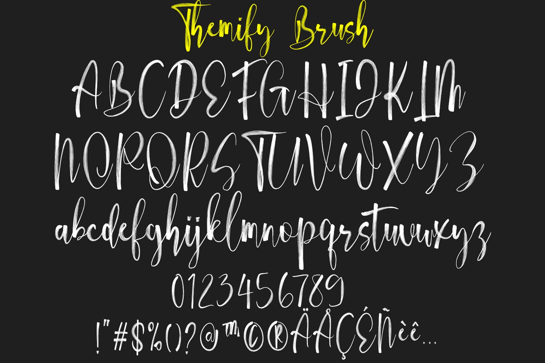 Themify Brush Font example image 2