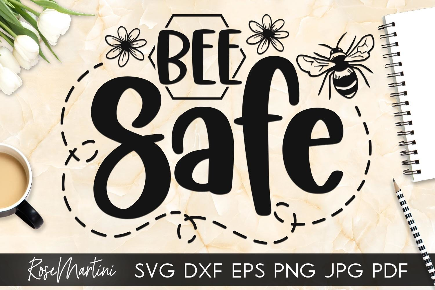Bee Safe SVG Queen Bee SVG Bee Pun Bumble Bee SVG Quarantine example image 6