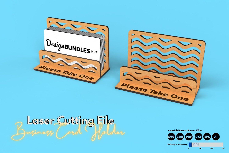 Download Business Card Holder Laser Cutting File