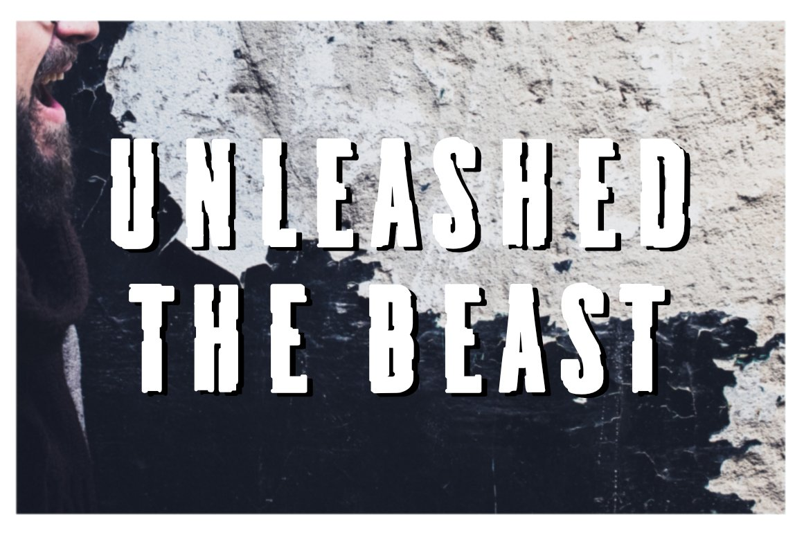 Frankenstainer - A Raw Display Typeface example image 3