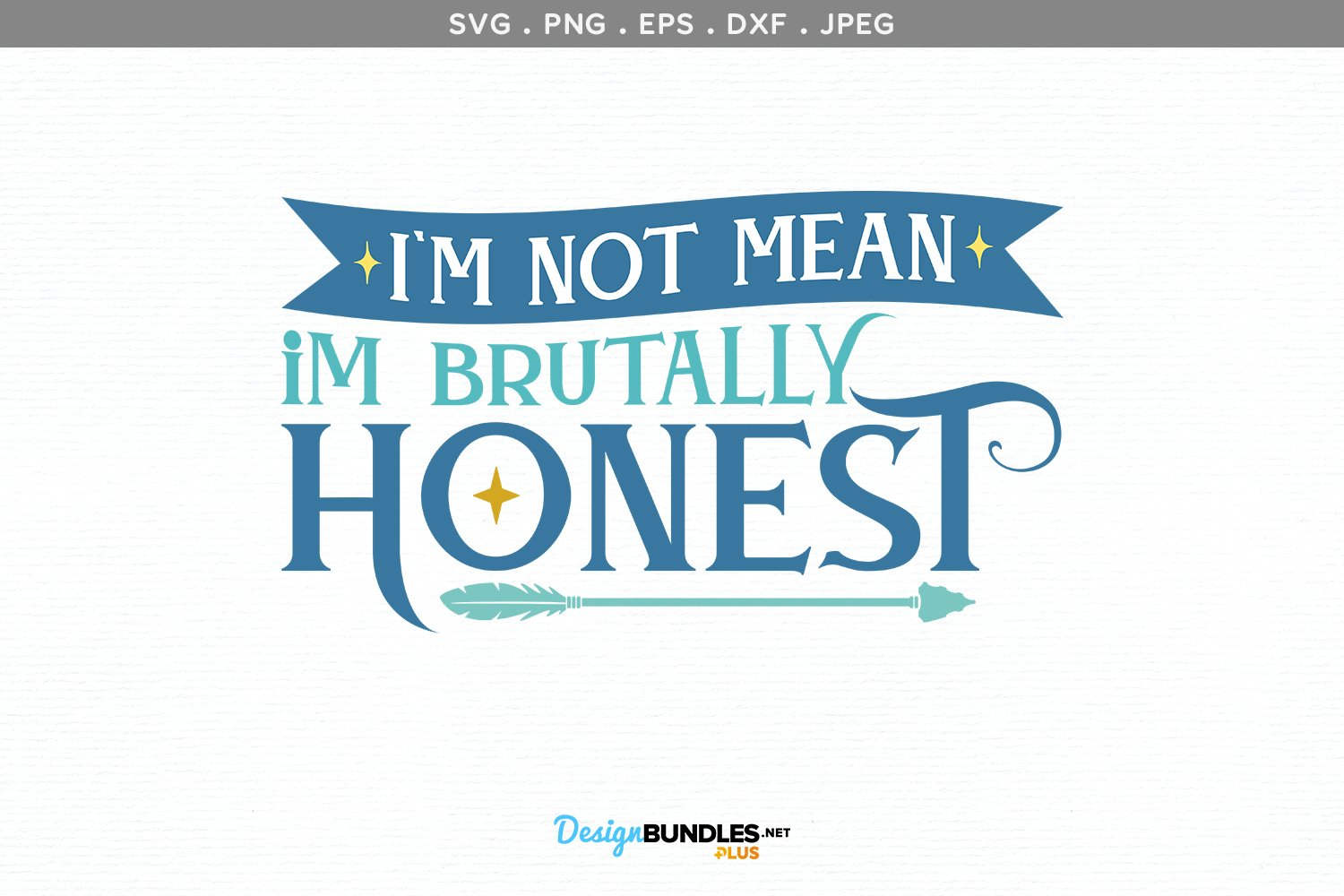 I'm Not Mean - svg, printable example image 2