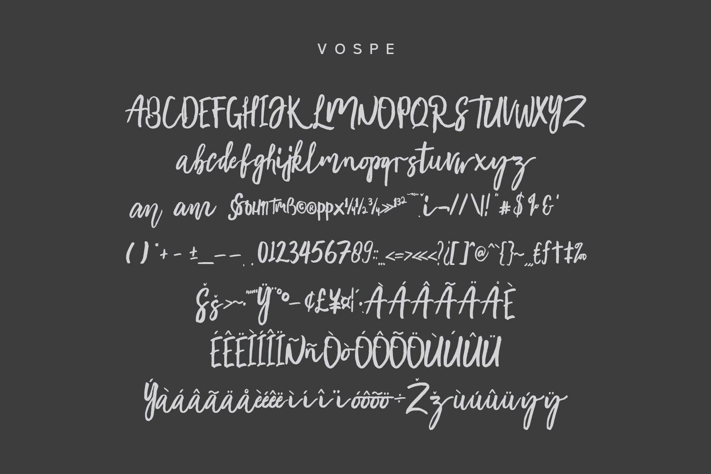 Vospe Font example image 2