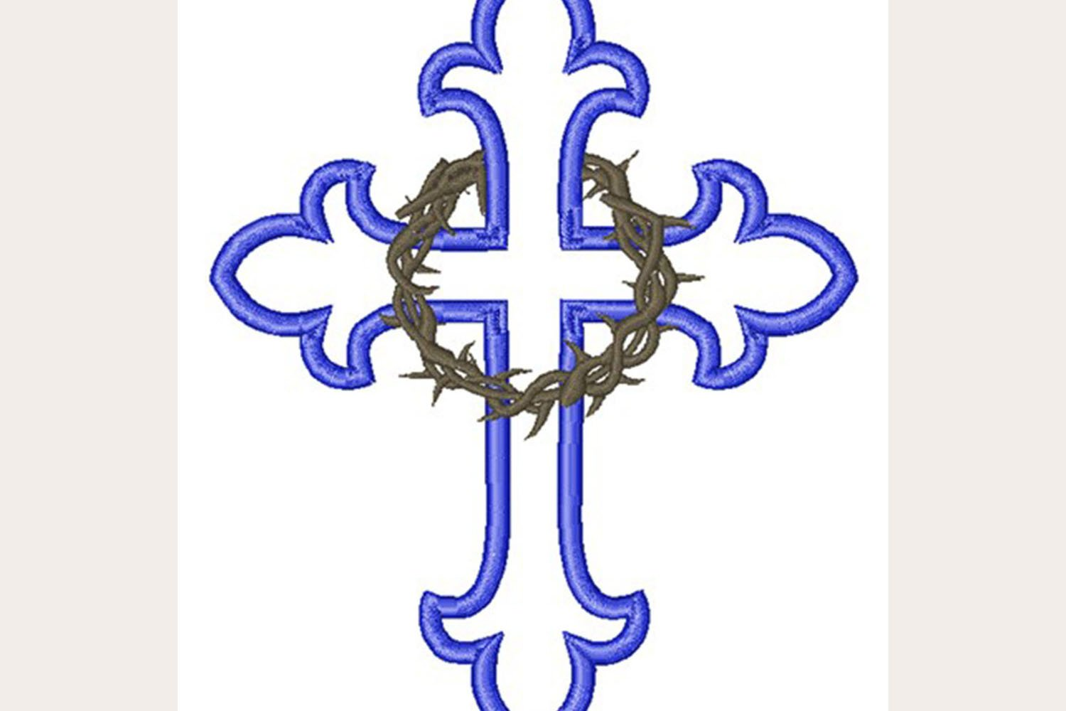 Cross Outline Crown Of Thorns Machine Embroidery Design 434490 Embroidery Design Bundles 49 high quality collection of outline of a cross by clipartmag. cross outline crown of thorns machine embroidery design