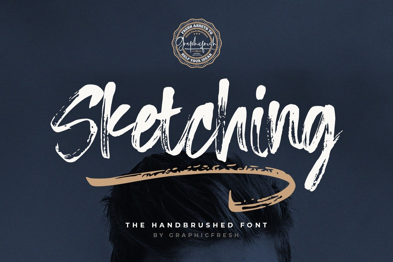 Sketching - The Handbrushed Typeface example image 1