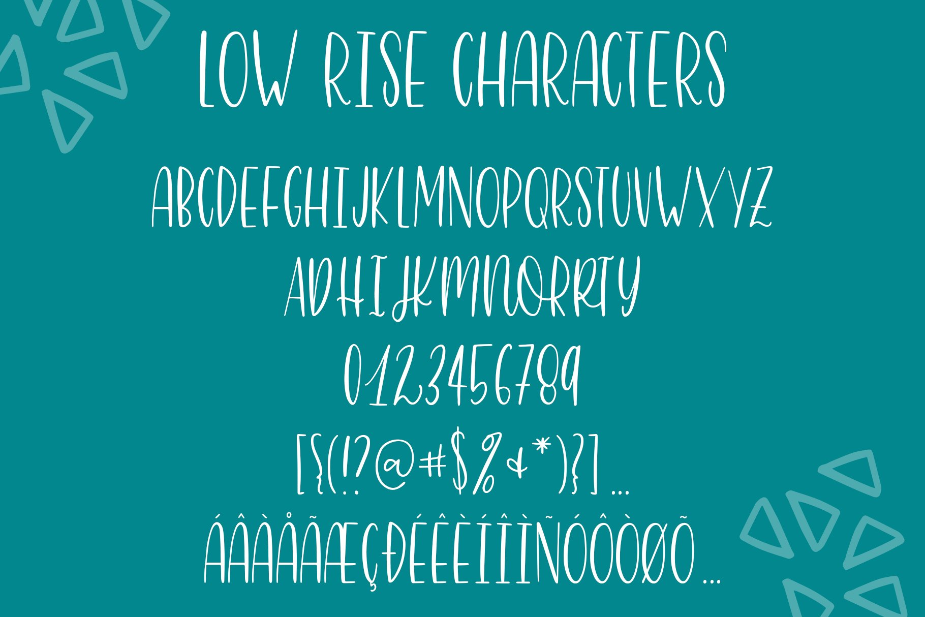 Skinny 4 Font Bundle, 8 Fonts from 4 Families example image 15