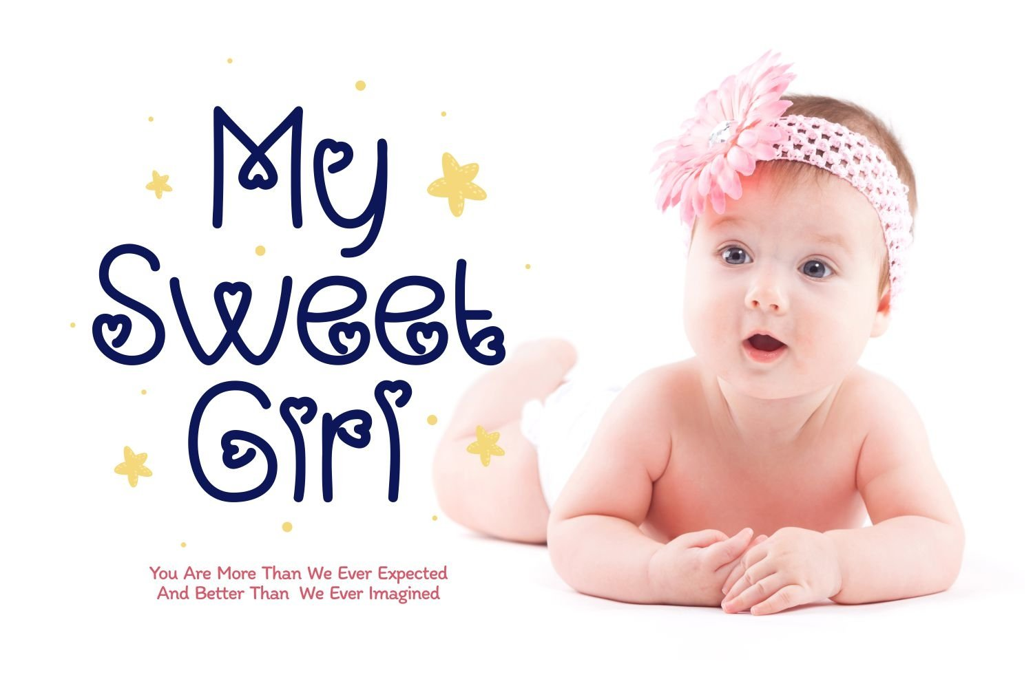 Baby Girl - Cute & Playful Display Font example image 2