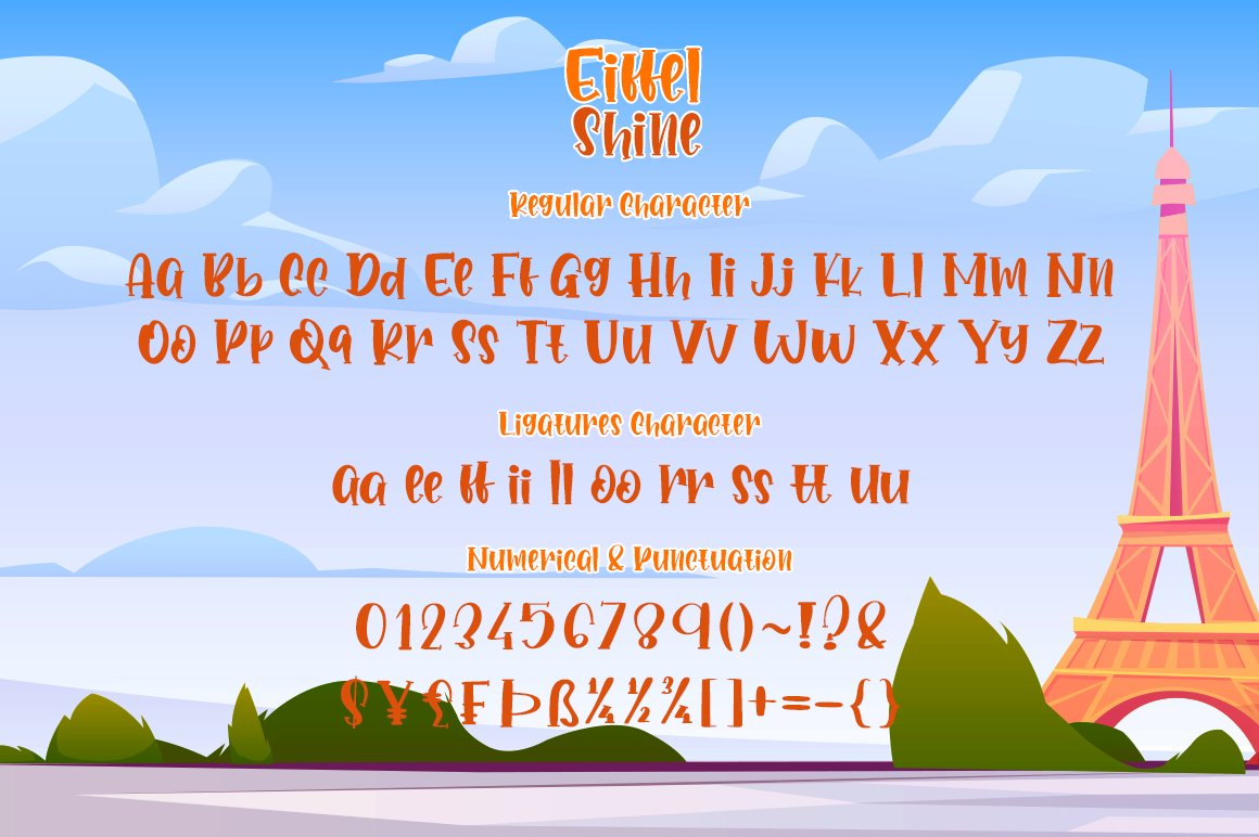 Eiffel Shine Cute Serif Handwritten Font example image 4