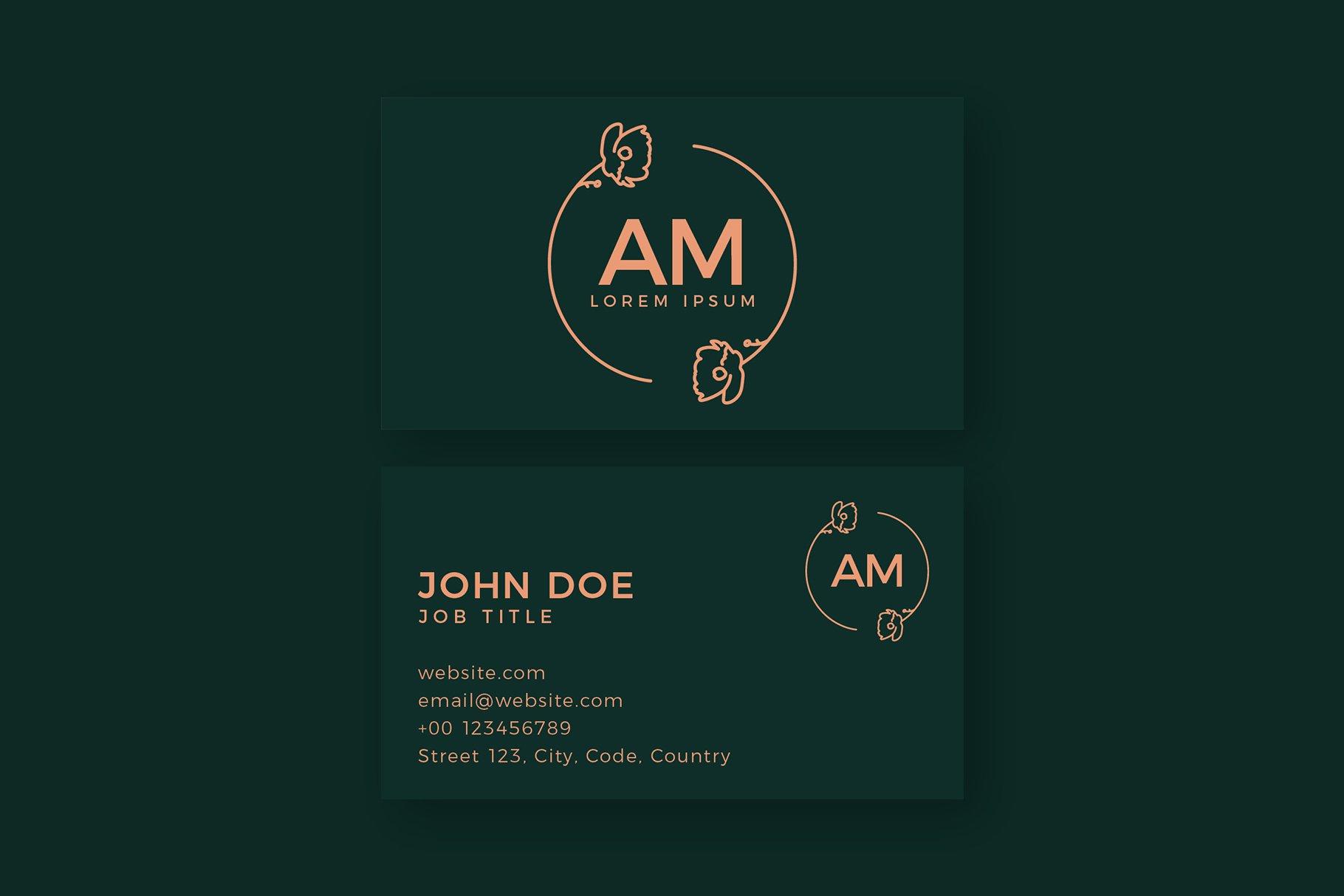 Monogram Logo & Business Card Templates example image 3