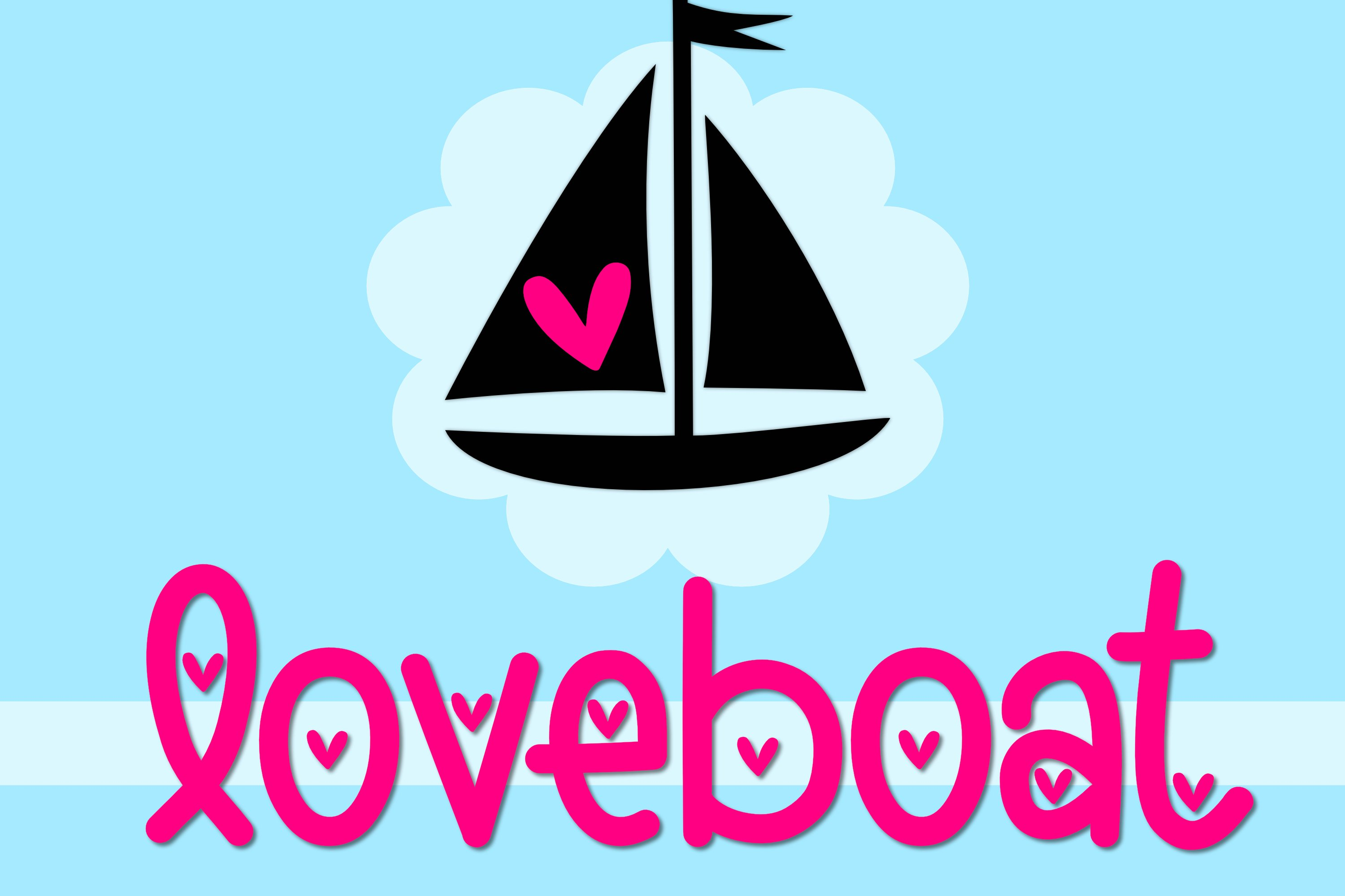 Loveboat - A Cute Font with Hearts example image 1