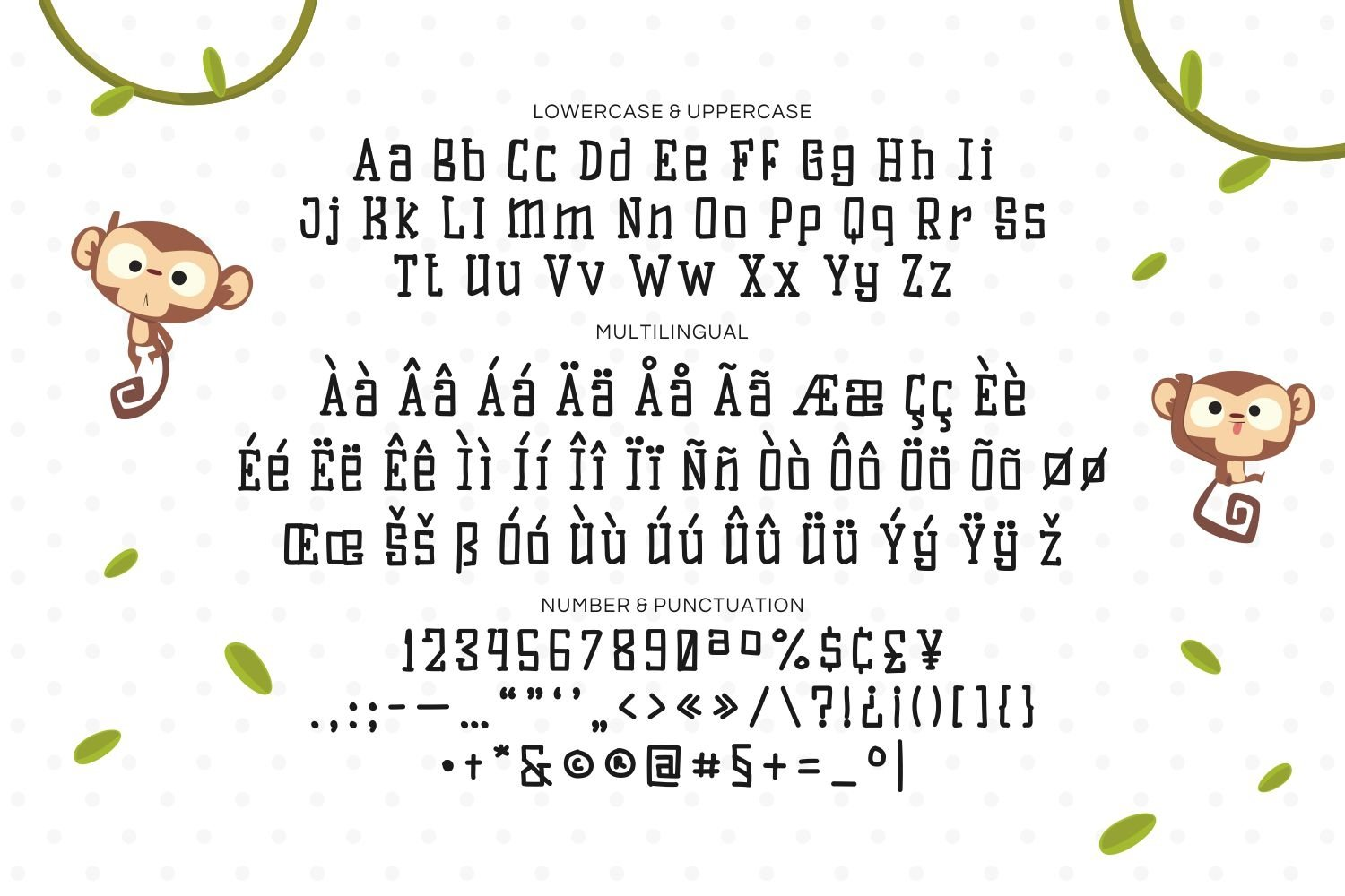 Monkey Tail - Playful Display Font example image 4