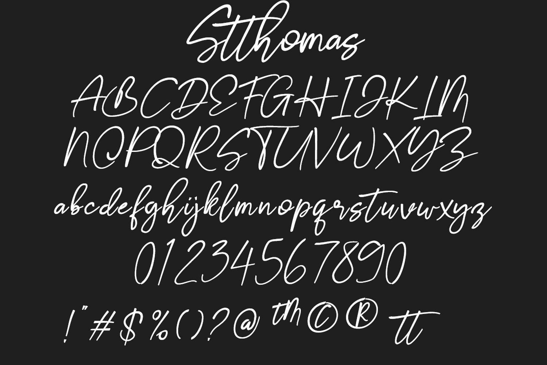 Stthomas Script Font example image 3