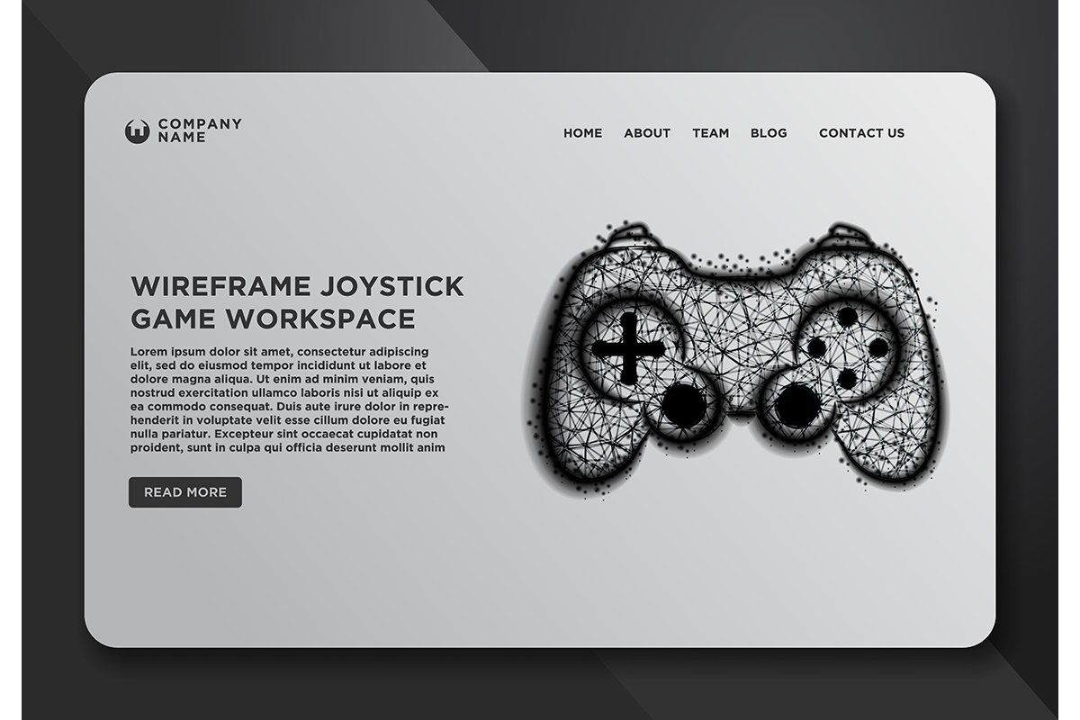 Web page design templates collection of joystick, Game pad. example image 1