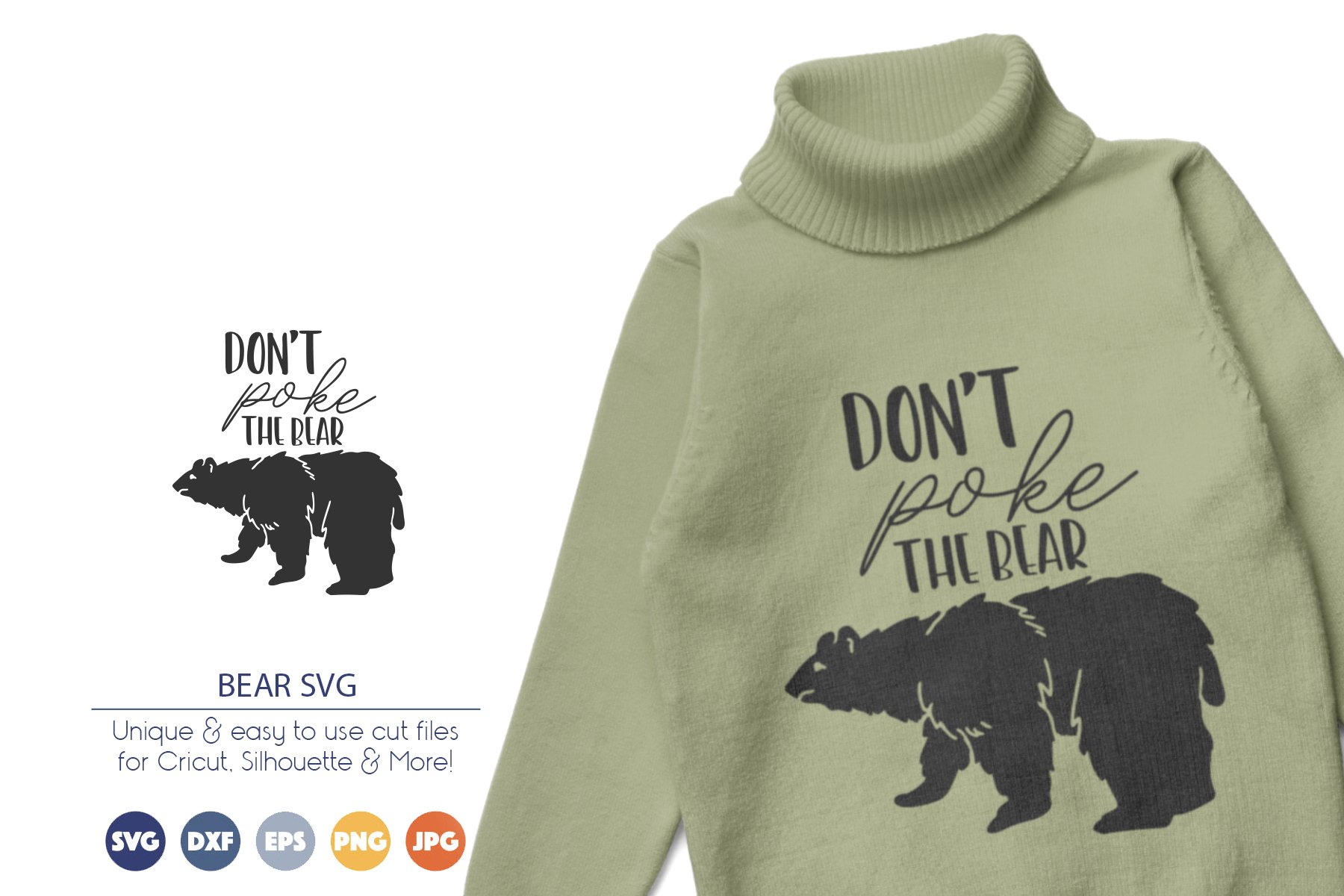 Don't Poke the Bear SVG example image 1