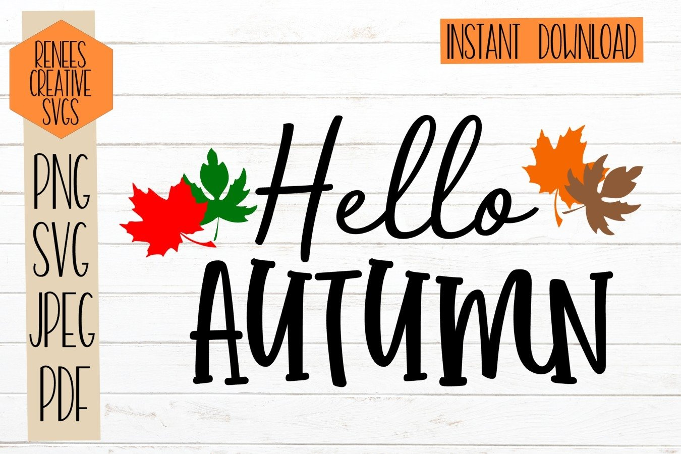 View Hello Autumn – Svg File DXF