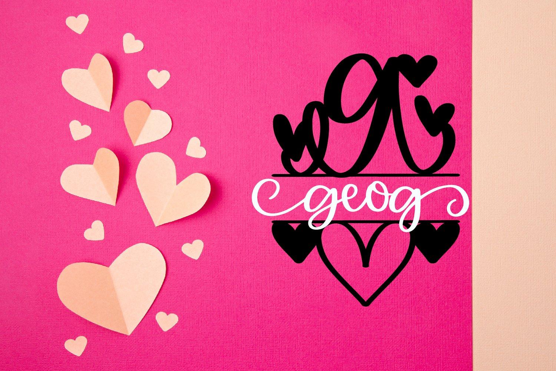 A Heart Split Monogram Font example image 5
