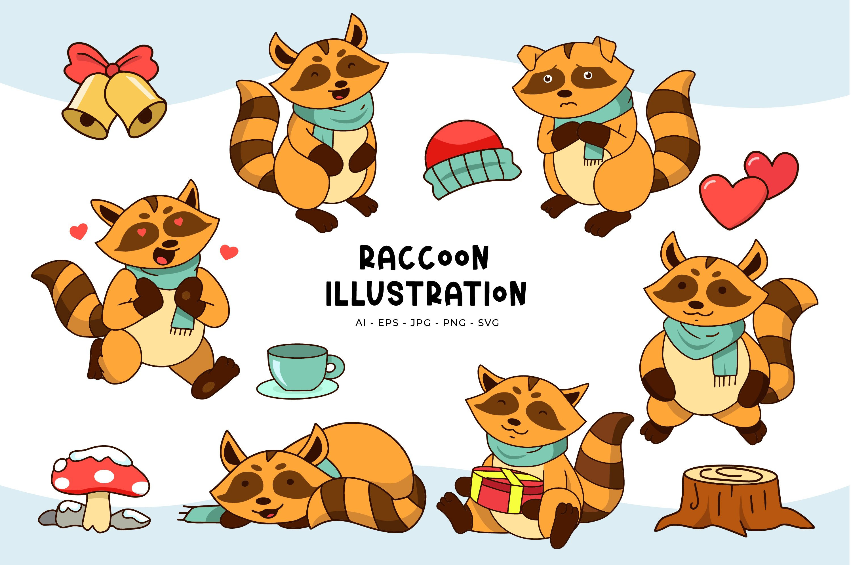 Raccoon Illustrations example image 1