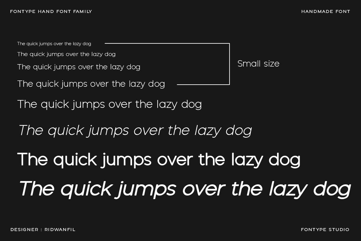 Fontype Hand - Handmade Font Modern Style example image 5