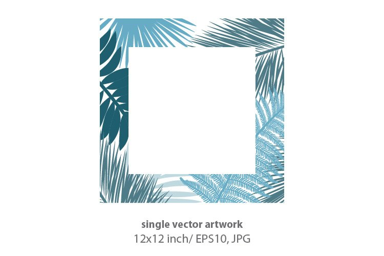 Palm branches - VECTOR ARTWORK example image 1
