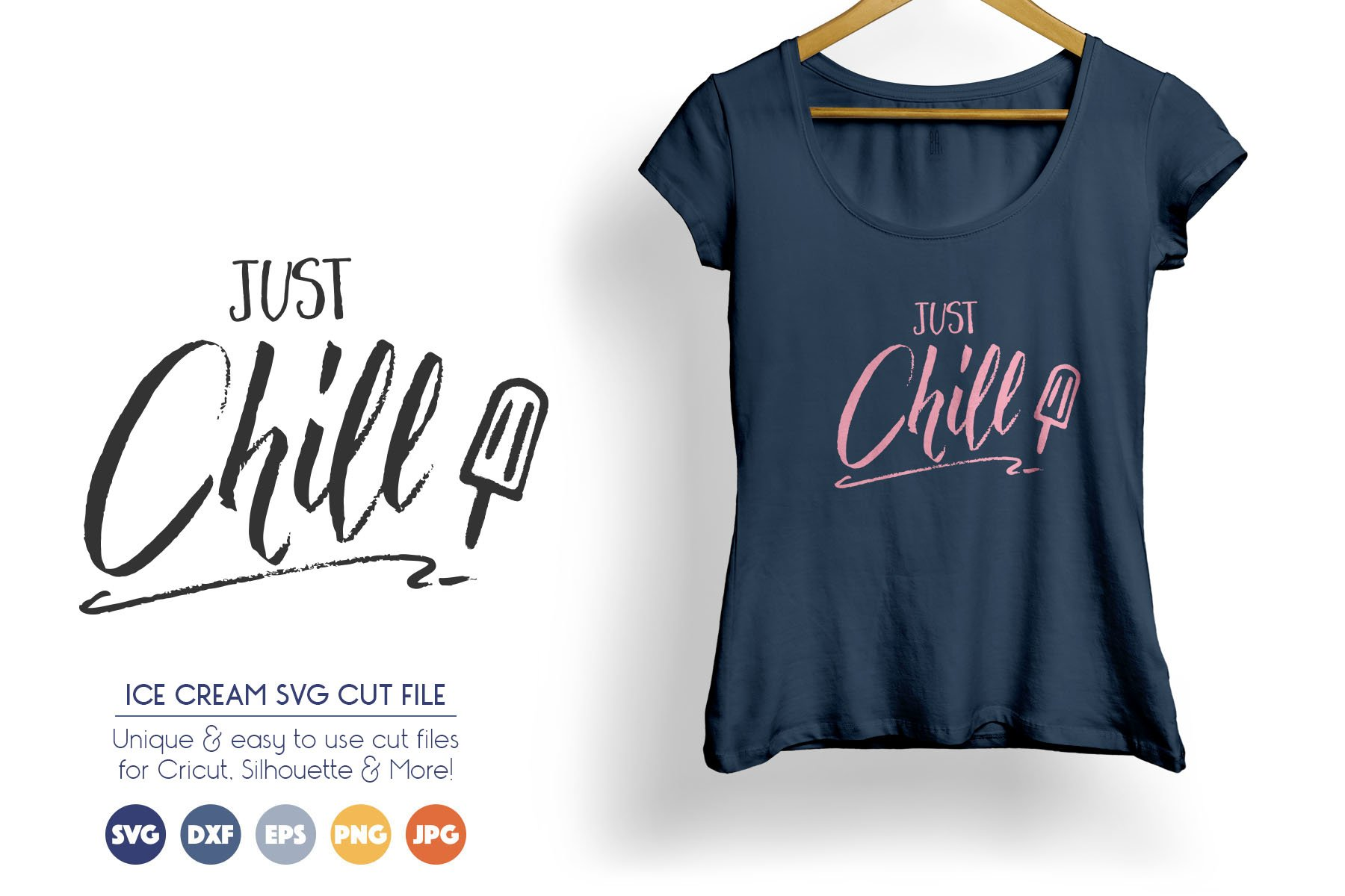Just Chill SVG Cut Files example image 1