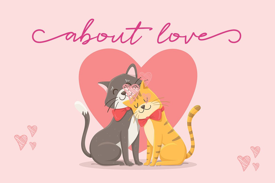 Catlove Lovely Font example image 5