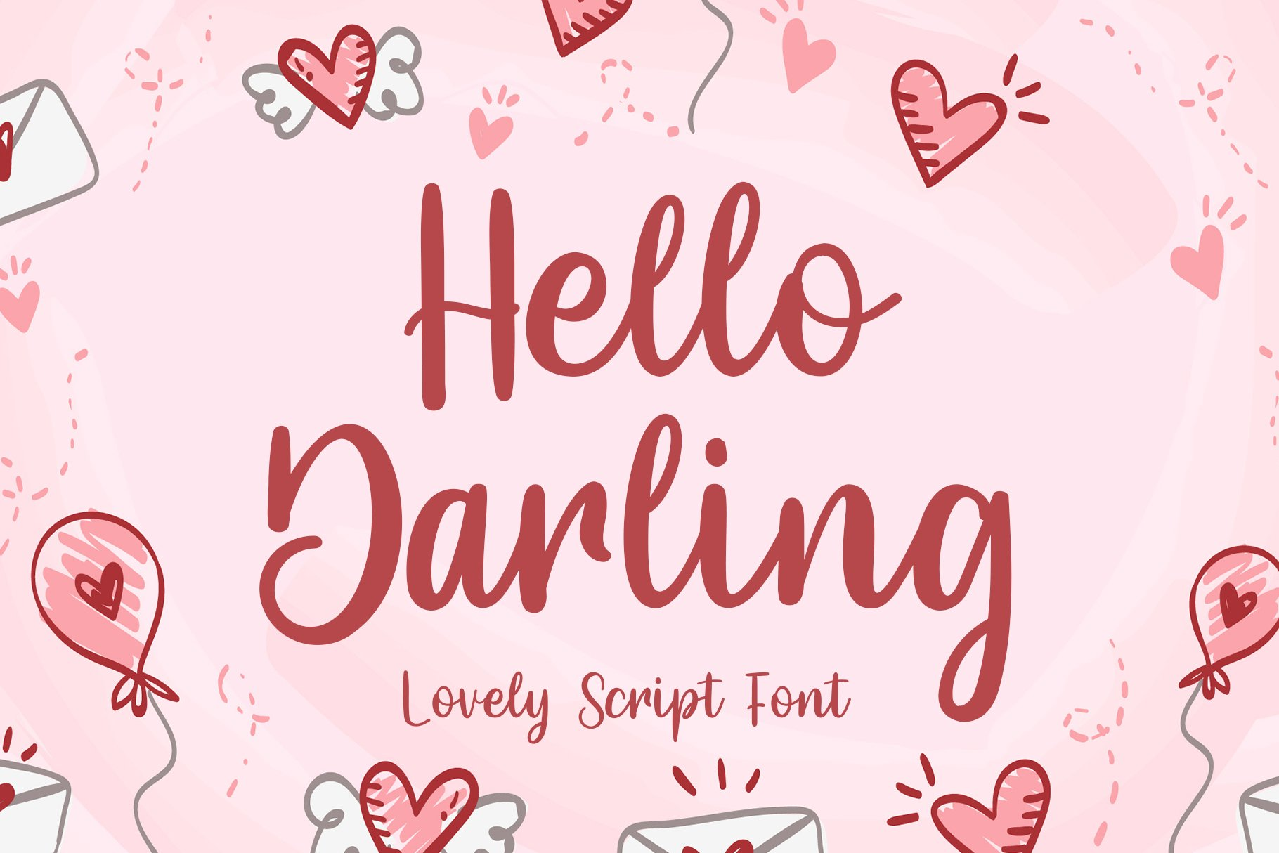 Hello Darling Lovely Script example image 1