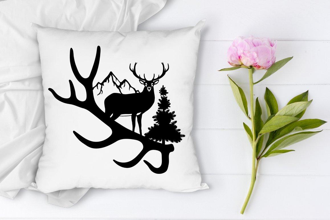 Deer In Forest Silhouette Svg Nature Scene Svg Cut Files 780227 Cut Files Design Bundles