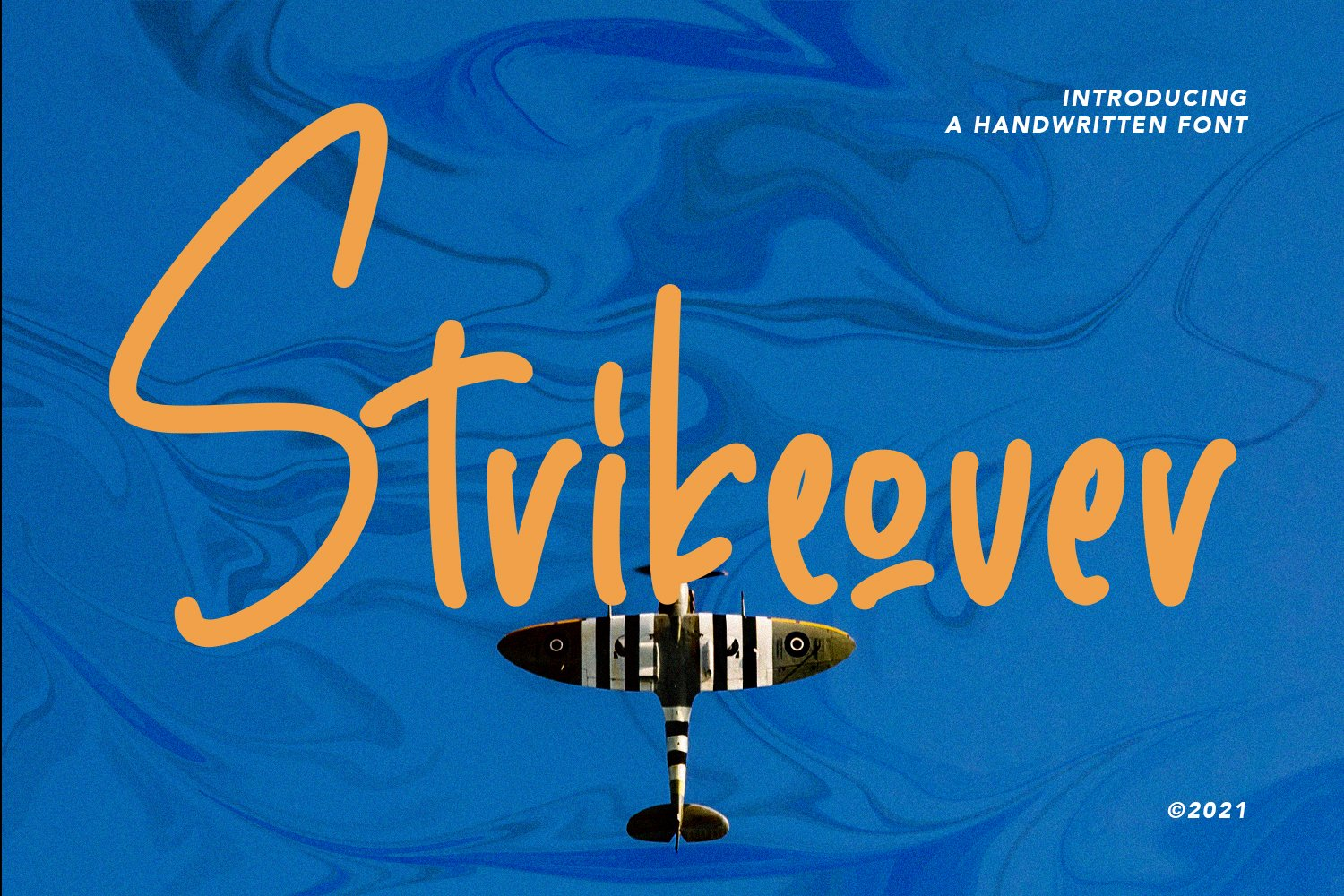 Strikeover - Handwritten Font example image 1