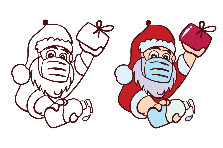 Santa Wearing Face Mask And Holding Sanitizer Svg 808971 Other Design Bundles