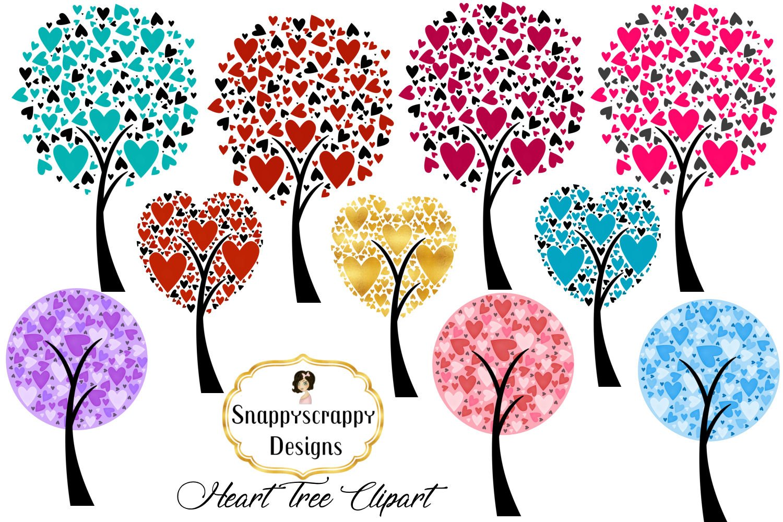 Valentine Heart Trees Clipart 205514 Illustrations Design Bundles