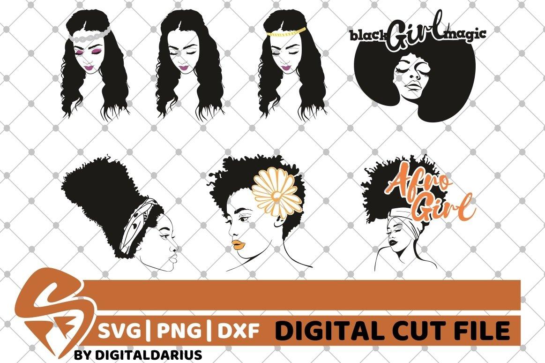 107x Black Woman Designs Bundle SVG, Black Queen, Melanin example image 16