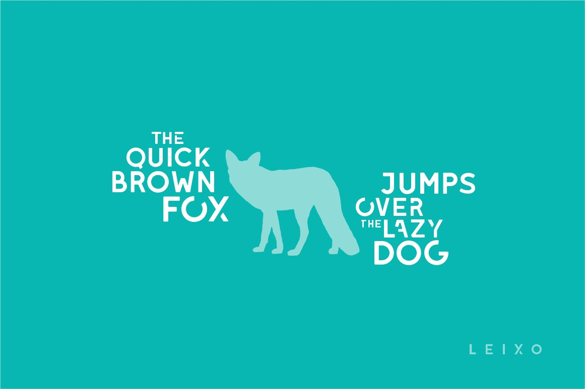 Leixo - A Stencil Font Family example image 2