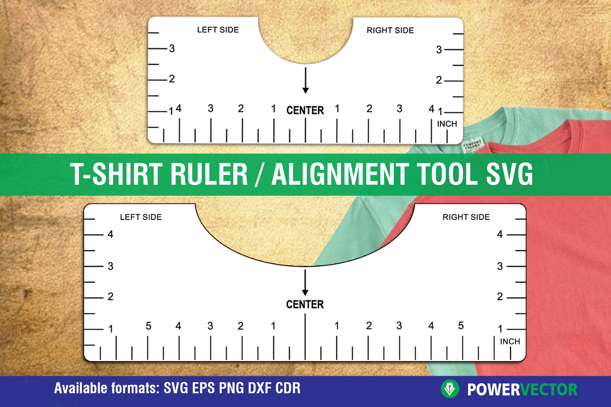 Tshirt Ruler Svg T Shirt Alignment Tool Dxf Vector Files 1115877 Laser Engraving Design Bundles