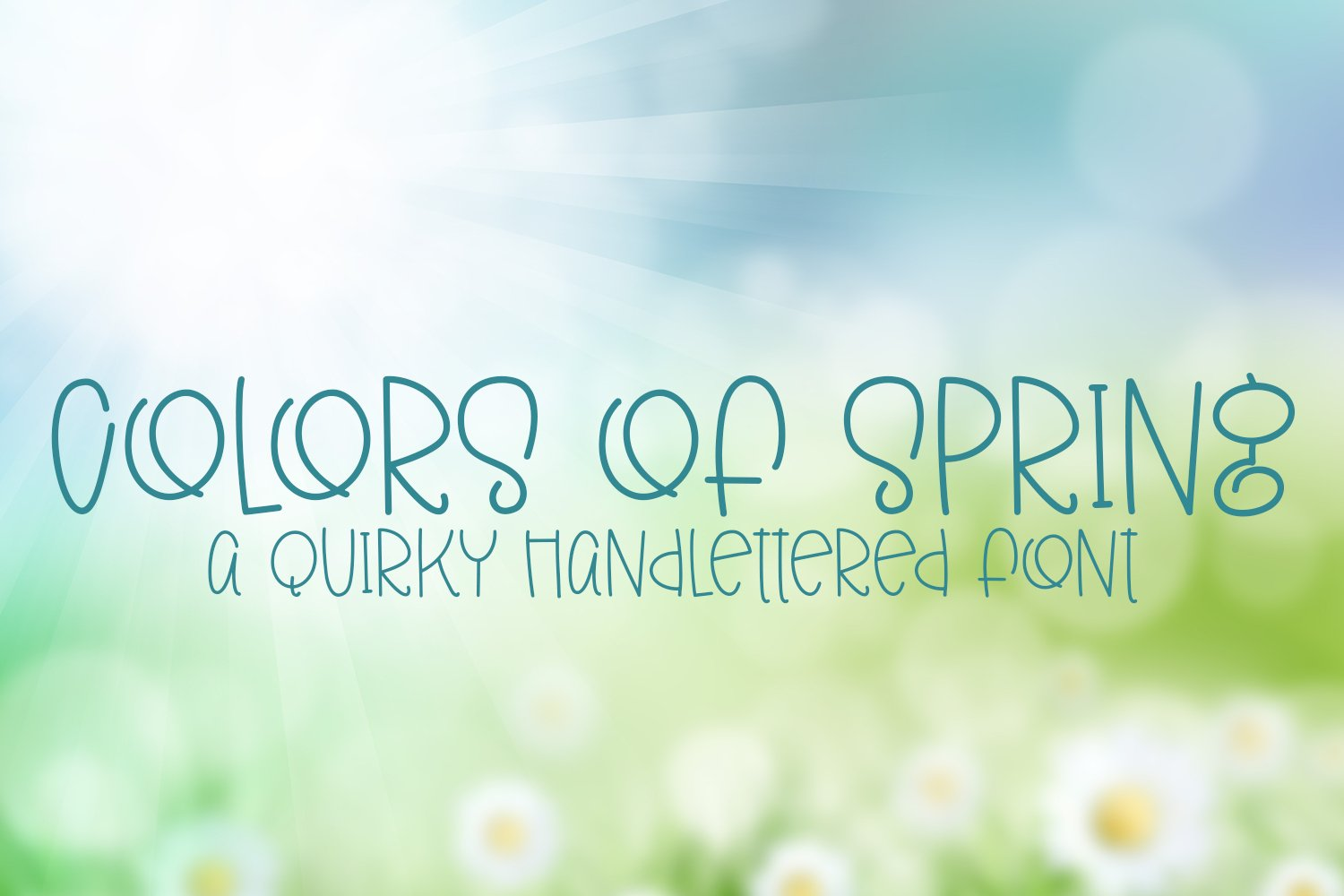 Colors of Spring - A Quirky Hand-Lettered Font example image 1