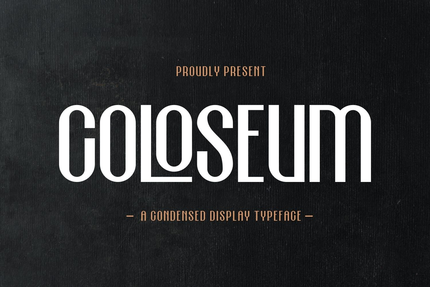 Coloseum - Condensed Display Typeface example image 1