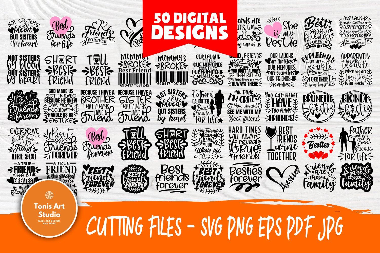 Friends Svg Cut Files, Friendship Svg Bundle, Shirt Designs example image 1