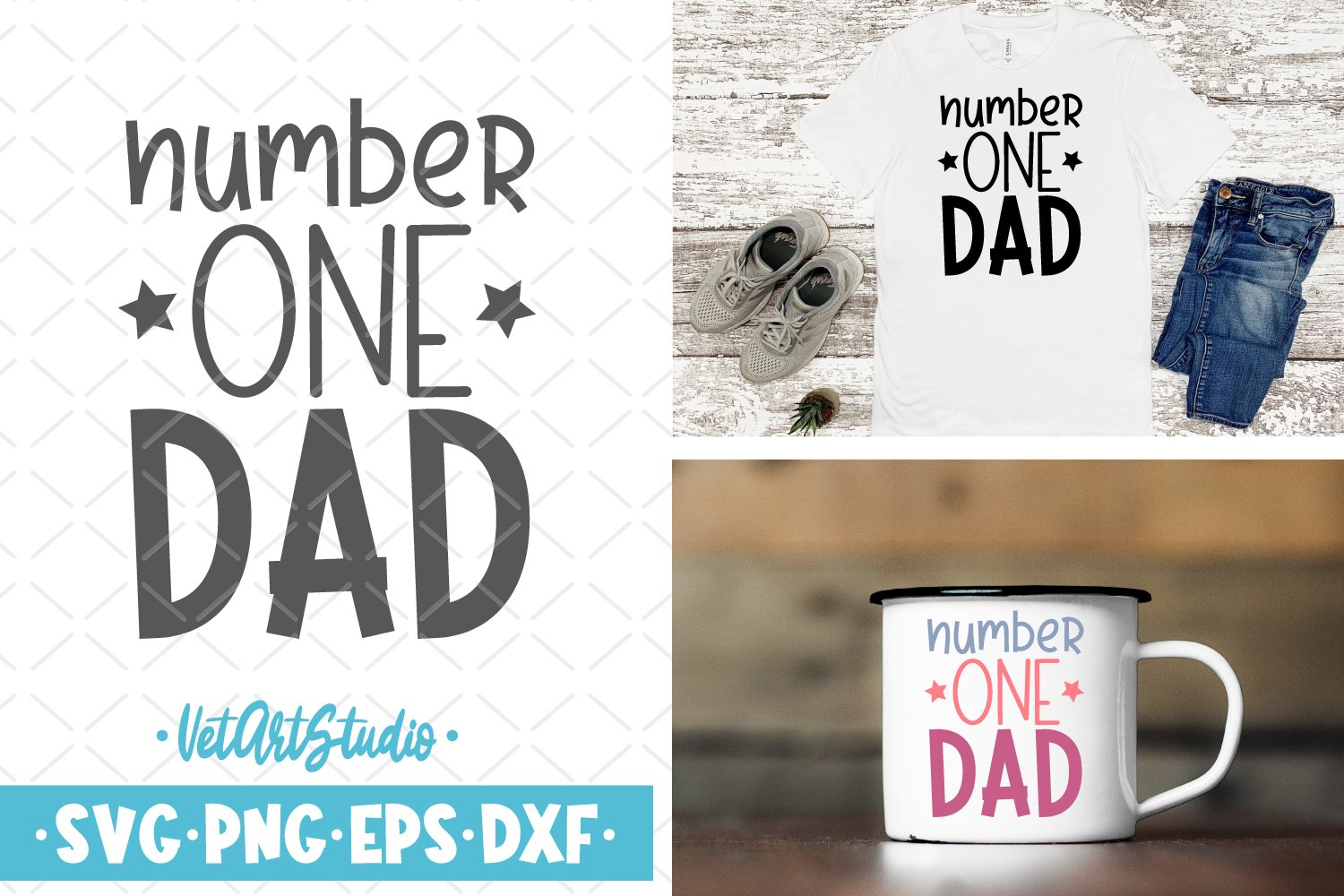 Number one dad svg, Father's day, Dad print example image 1