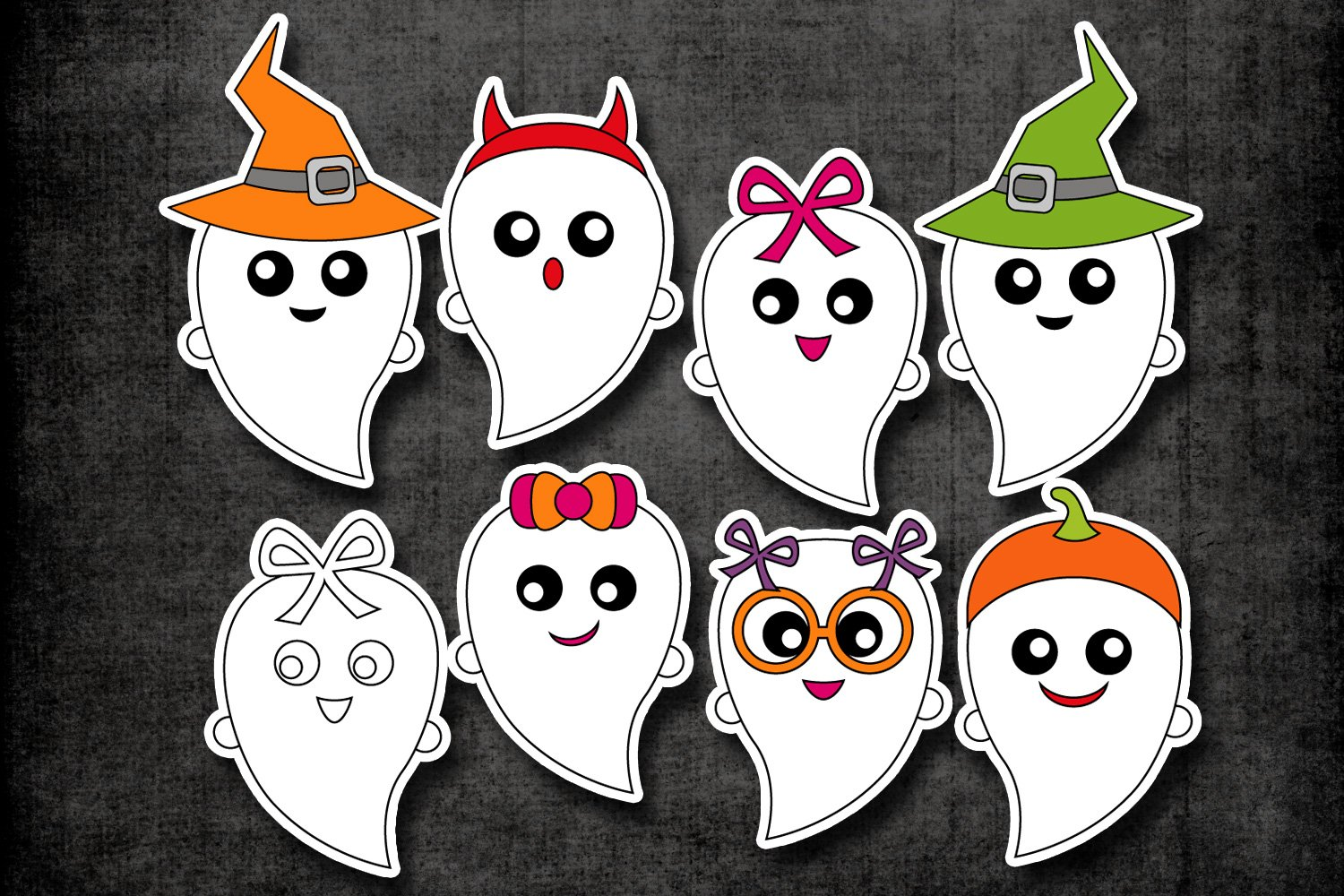 Halloween ghost clipart graphic illustrations (105954 ... (1500 x 1000 Pixel)