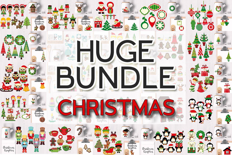 Christmas Bundle, Huge Clip Art Collection