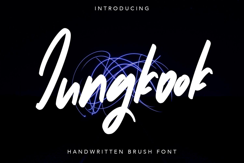 Jungkook - Handwritten Brush Fonts example image 1
