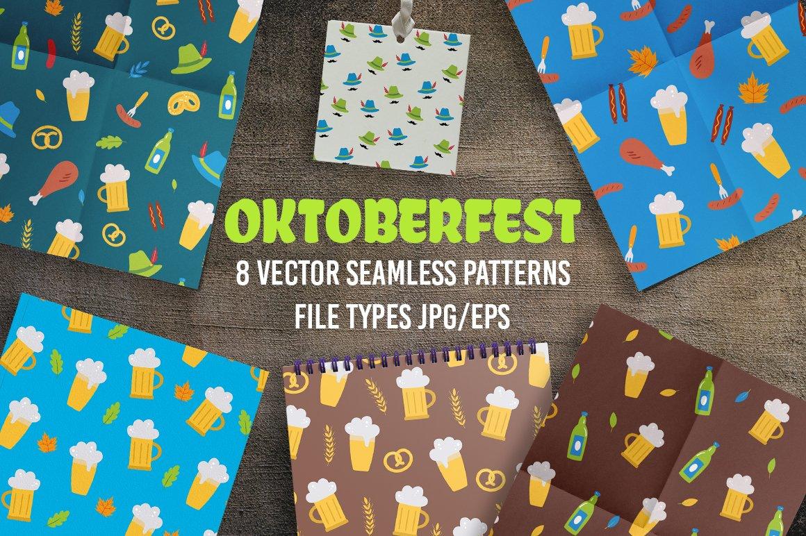 Download Oktoberfest Seamless Vector Patterns Jpg Eps 833612 Patterns Design Bundles