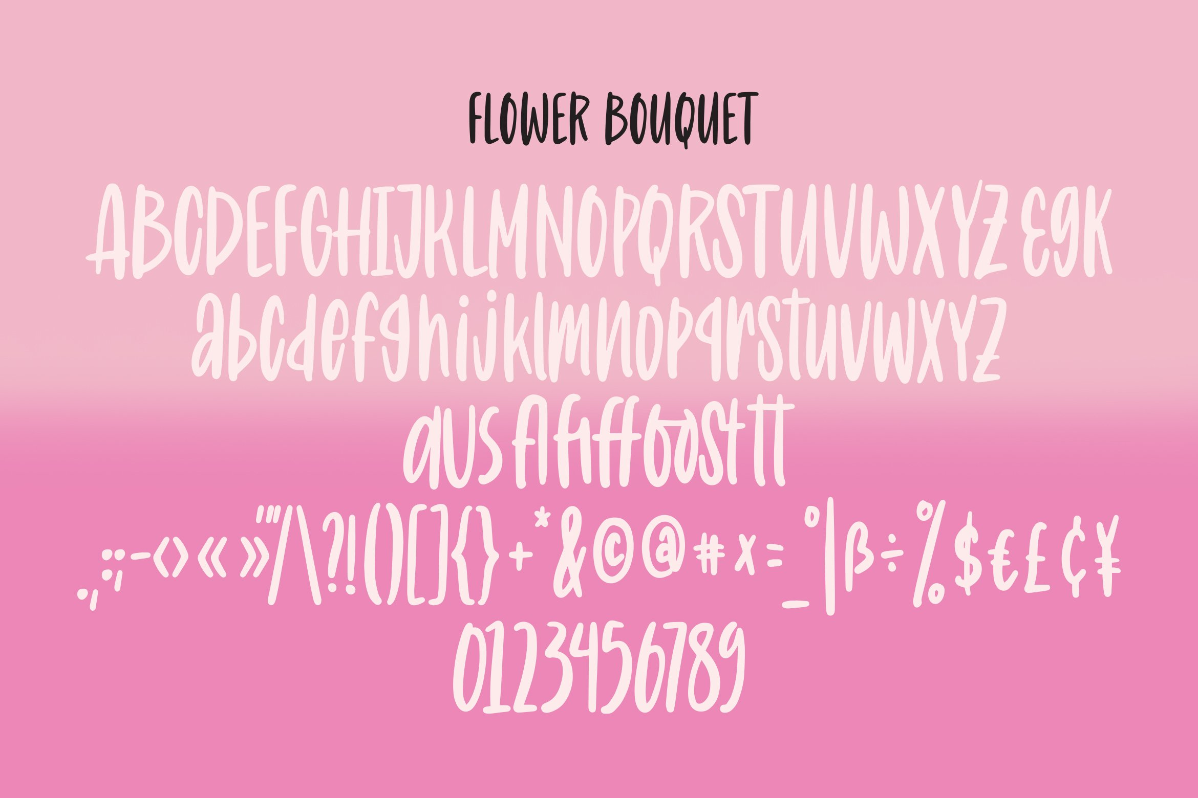 Flower Bouquet - Quirky Handlettering Font example image 2