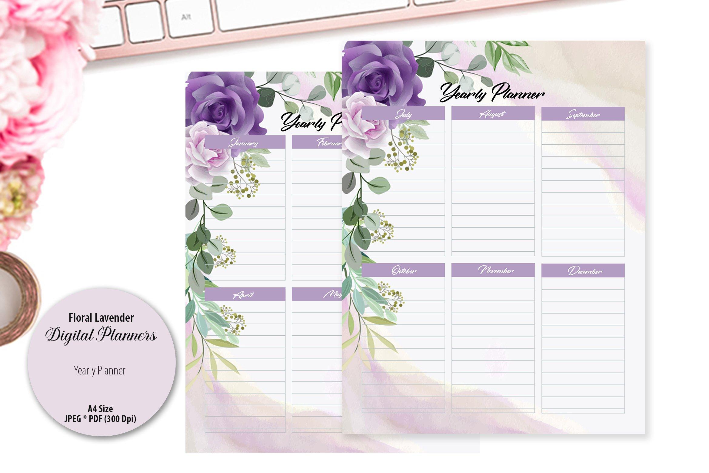 Floral Lavender Digital Planner example image 5