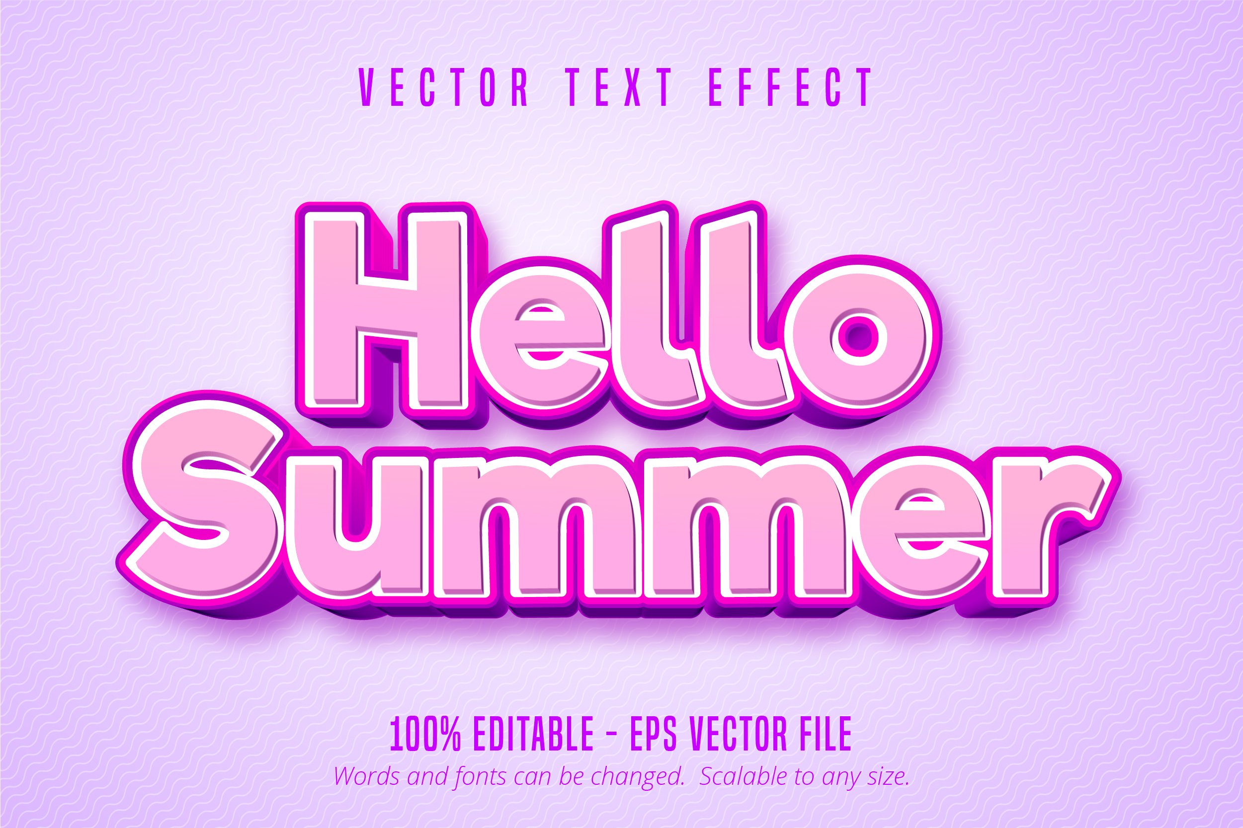 Hello summer editable text effect example image 1