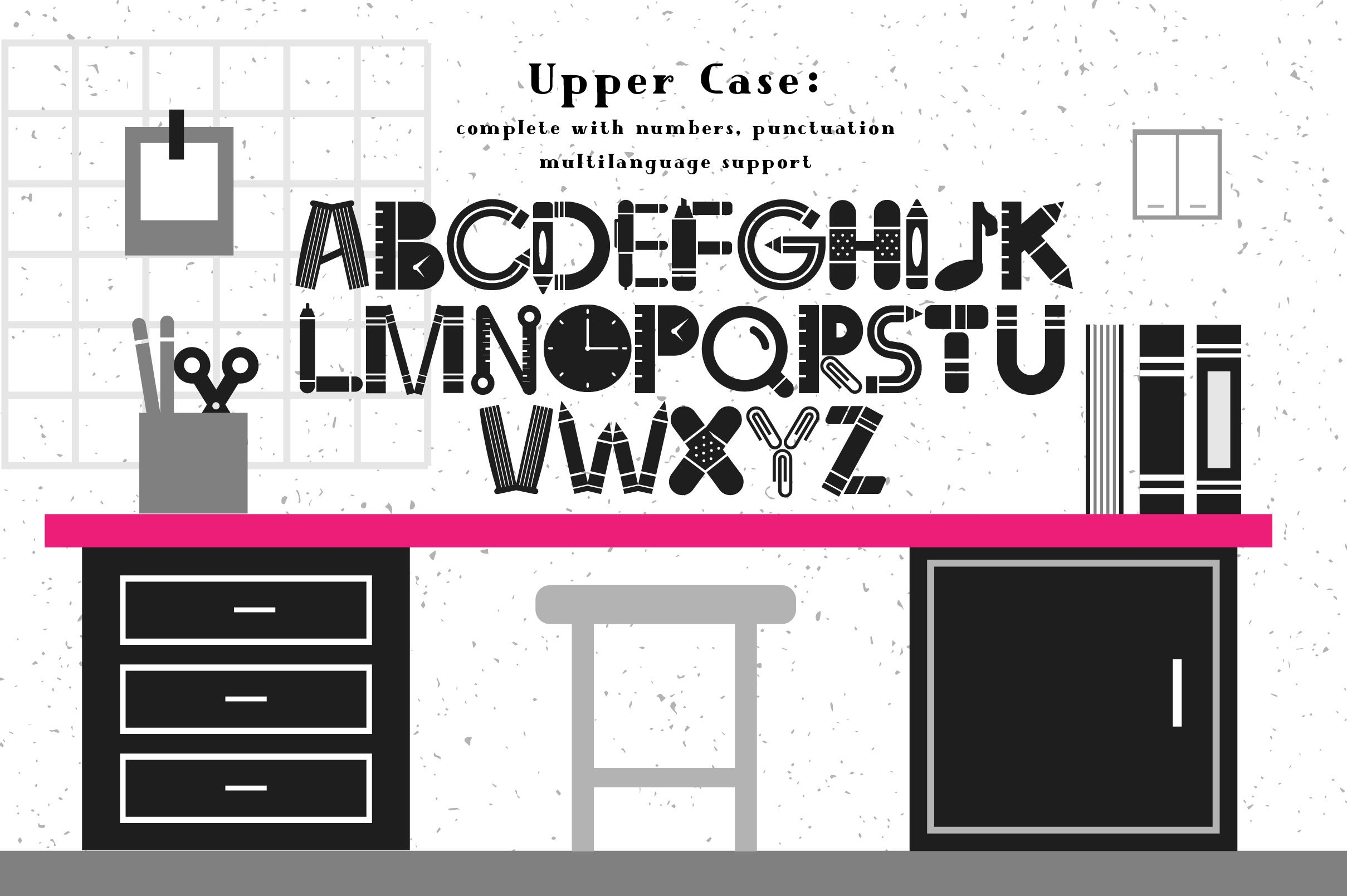 Back To School Font example image 2