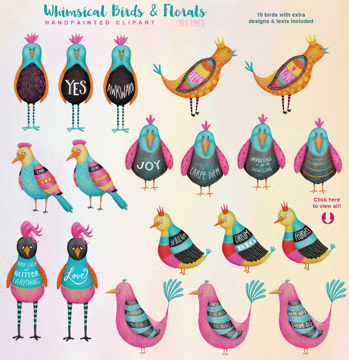 Big Animals & Birds Illustration Bundle example image 11
