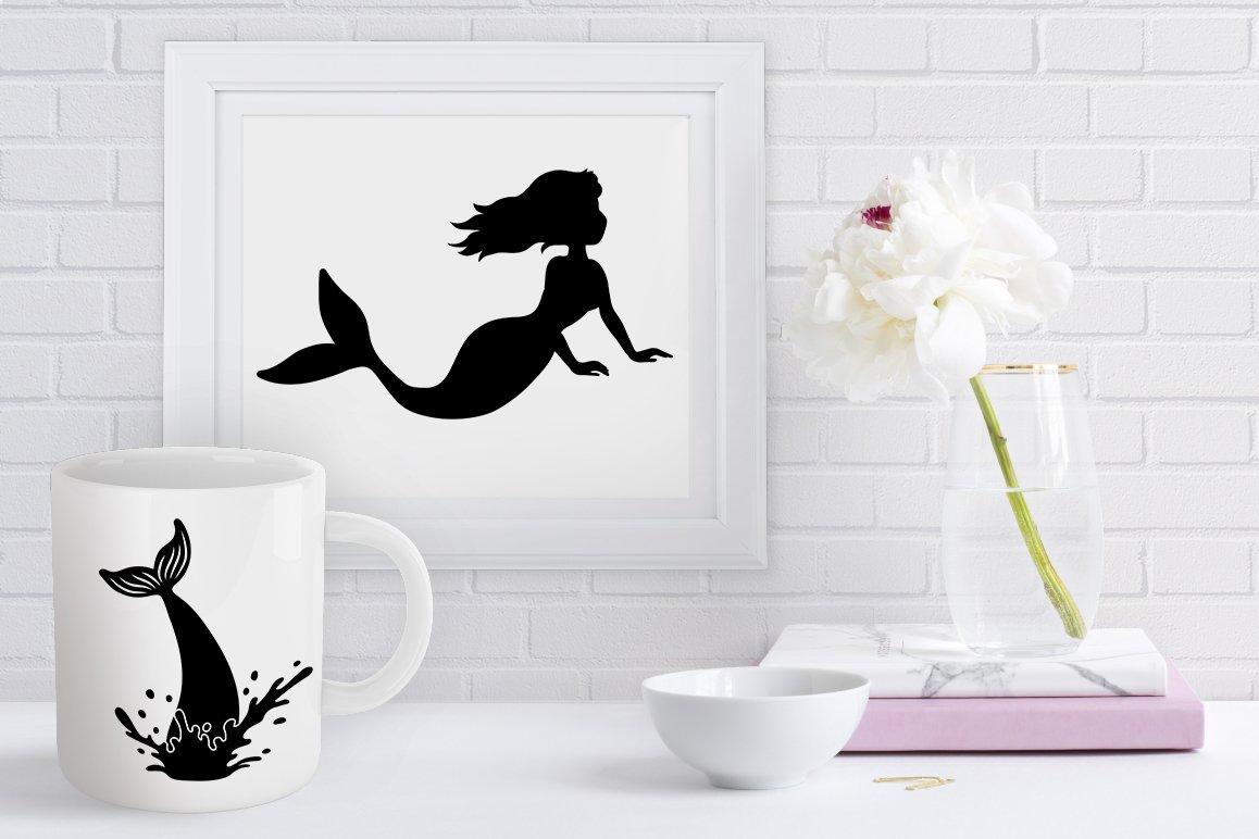 Mermaid SVG, Mermaids Bundle SVG Cut Files, Mermaid Clipart. example image 4