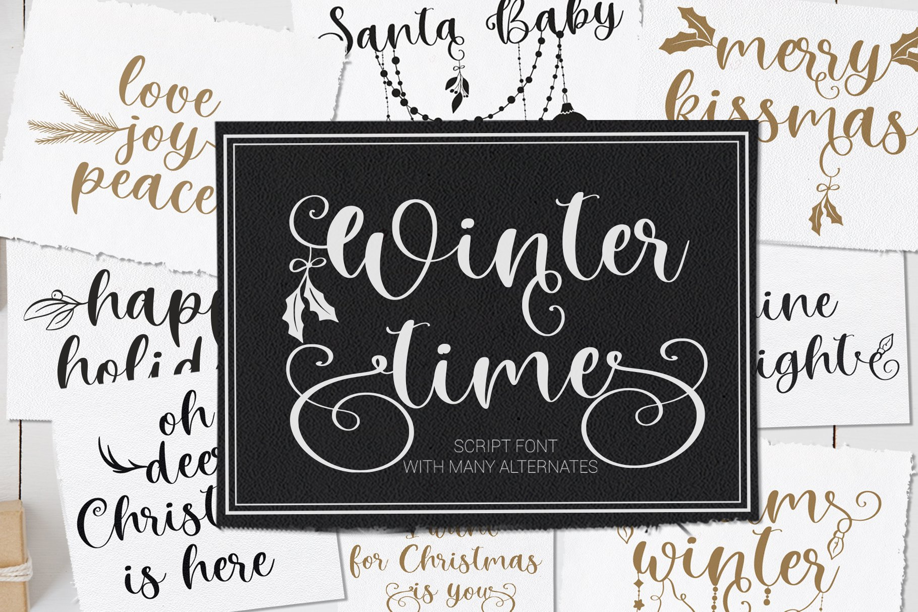 Winter Time. Decorative Script Font example image 1