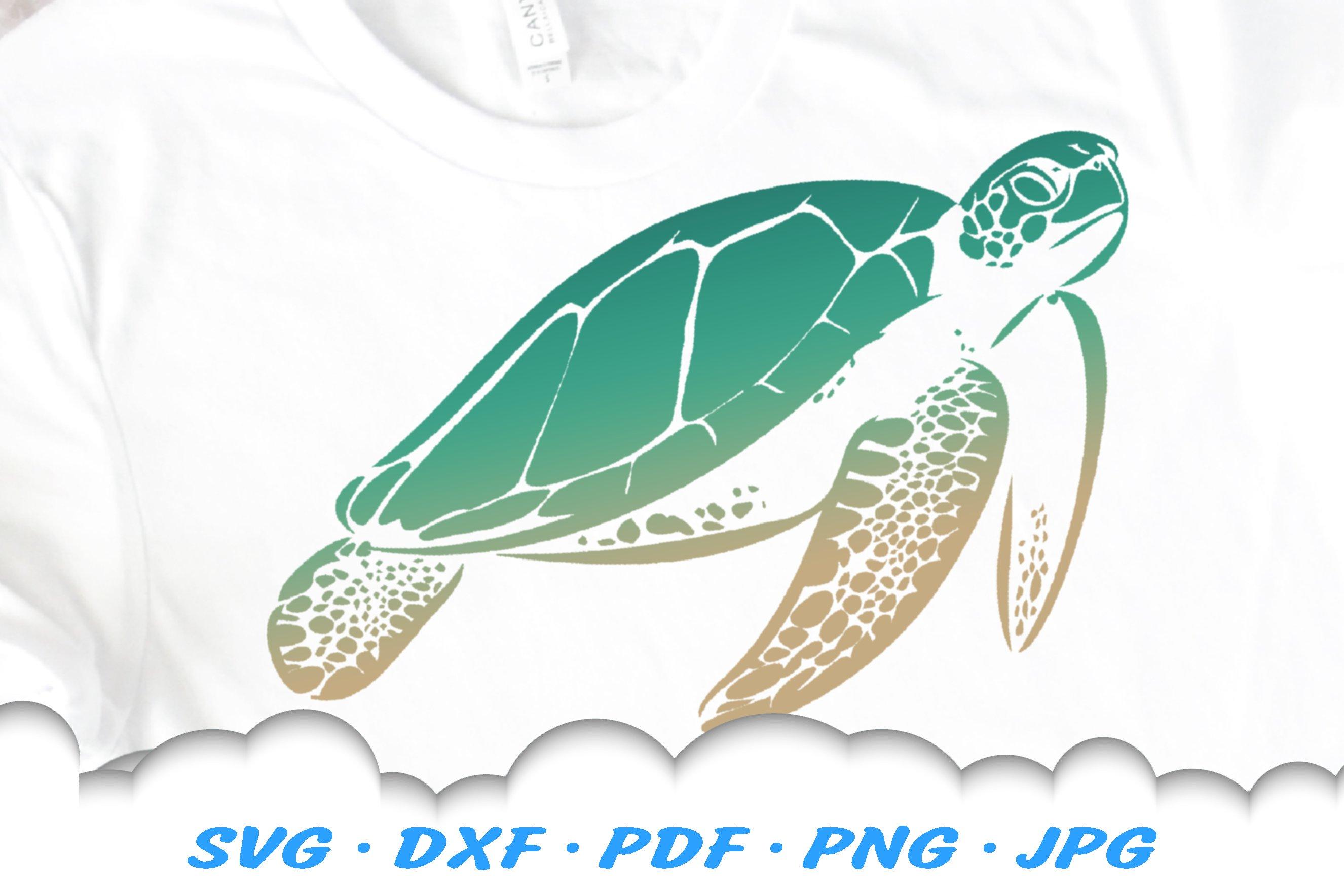 Sea Turtle Svg Dxf Cut Files 413608 Illustrations Design Bundles