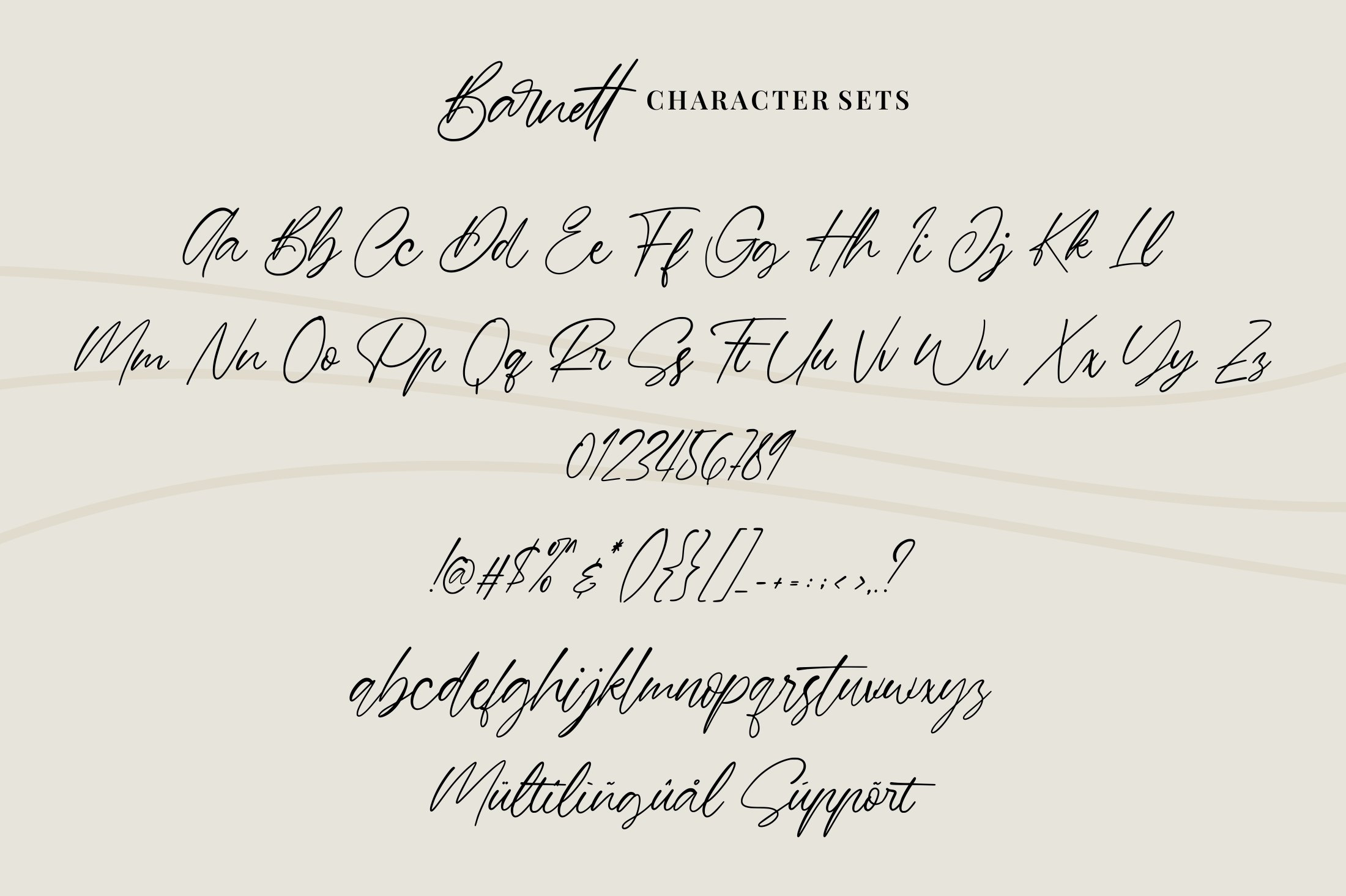 Barnett - Signature Font example image 6