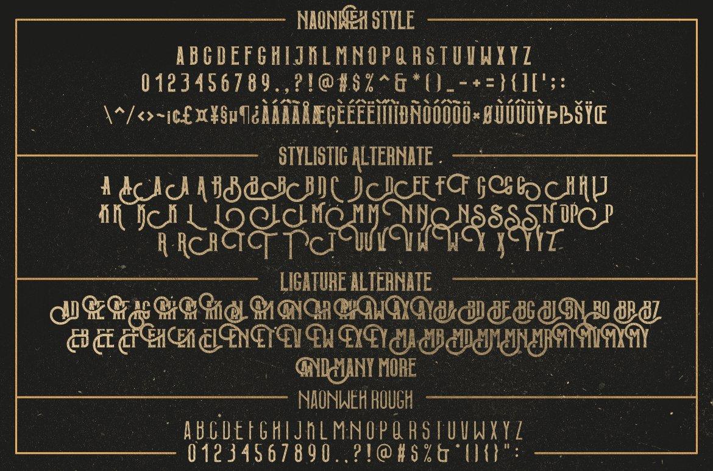 Web Font Naonweh Typeface example image 8